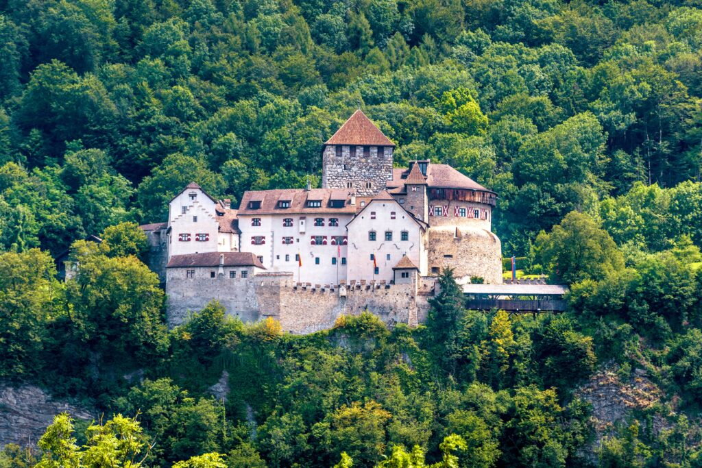 Photography of the castle of Vaduz